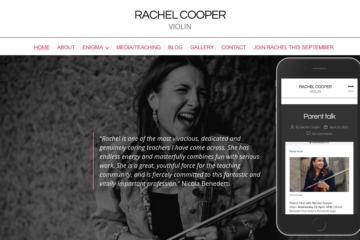 Rachel Cooper, violin screenshot