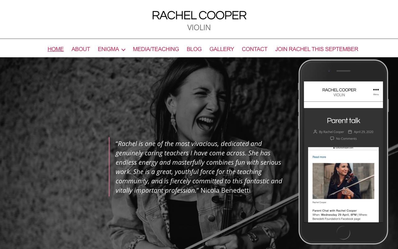 Rachel Cooper, violin screenshot